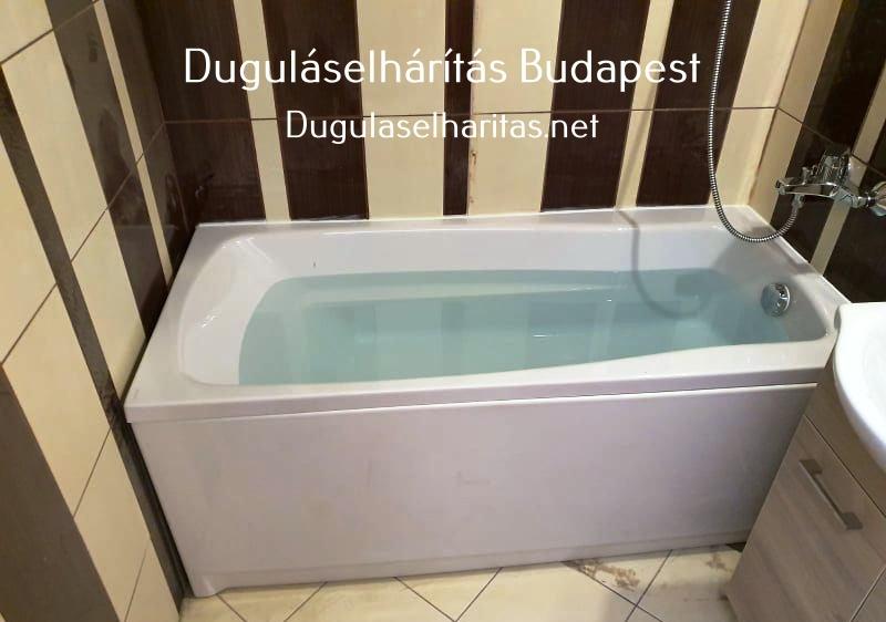 Eldugult fürdőkád