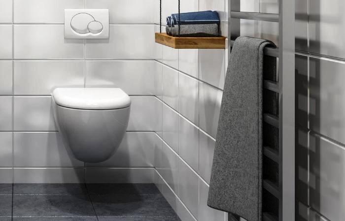 Falra szerelt WC. csésze