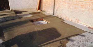 Zsírfogó tartály betonozás