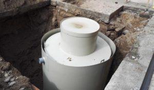 Kültéri zsírfogó tartály beállítása