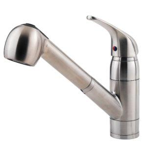 Zuhanyfejjel ellátott mosogató csaptelep