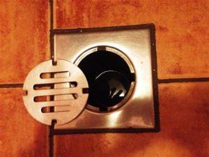 Padlóösszefolyó - fürdőszobai összefolyó