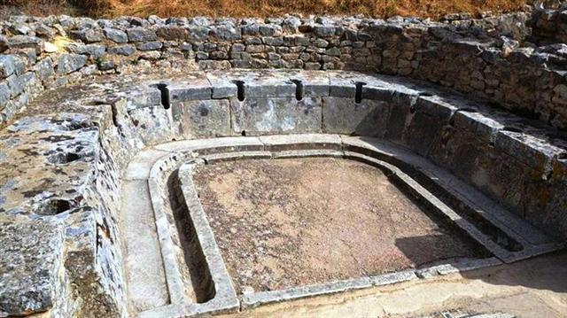 Ókori nyilvános WC. Rómában