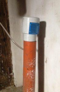 Padlástérben elhelyezett strang szellőző